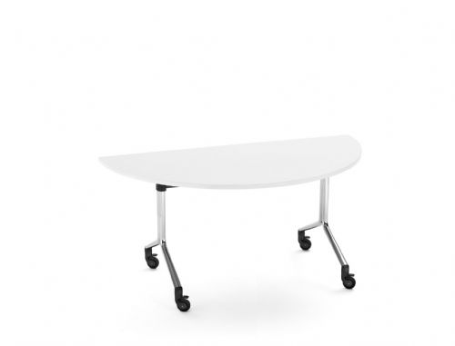 Pledge City Semi Circular Linkable Meeting Room Table On Castors 1600mmx800mm